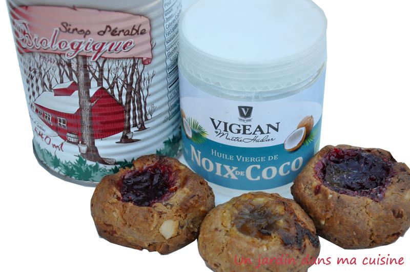 biscuits amandes rable huile de noix de coco un jardin. Black Bedroom Furniture Sets. Home Design Ideas