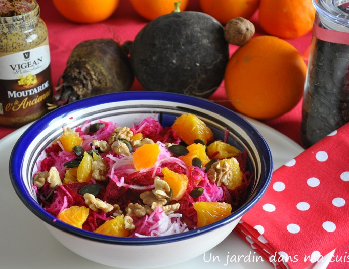 salade de betteraves radis orange