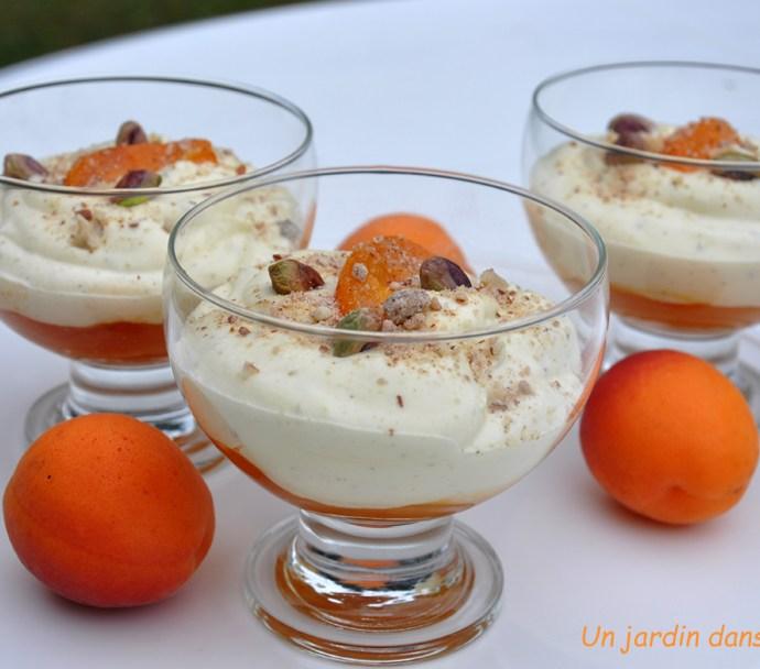 crème abricots mascarpone