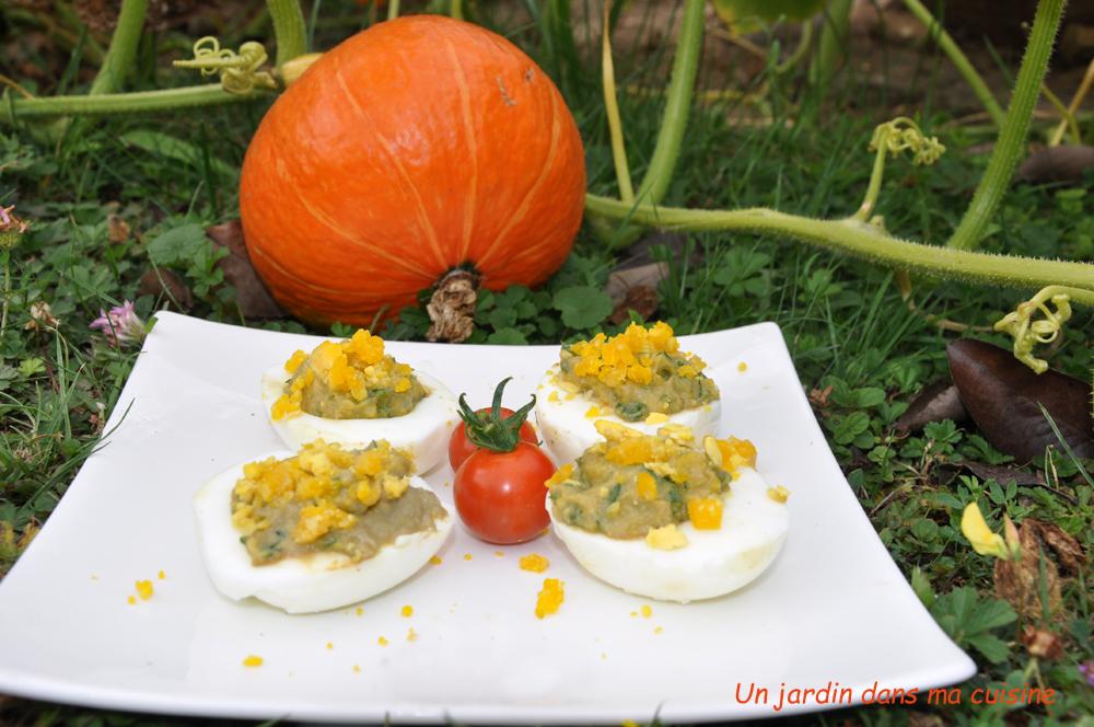 œufs mimosa aubergines