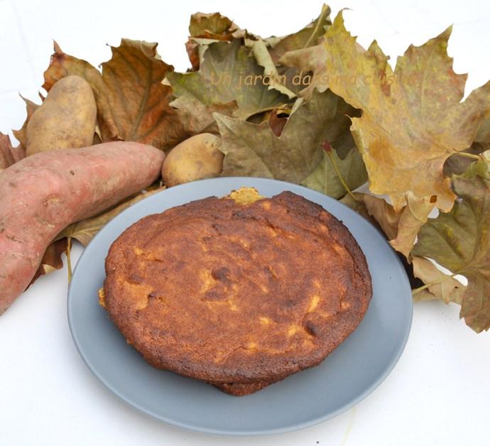 gâteau pommes de terre patate douce sans farine