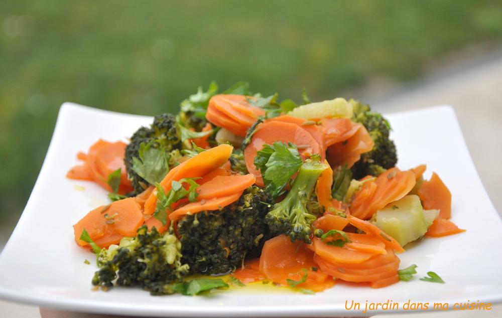 duo de carottes brocoli huile de cameline