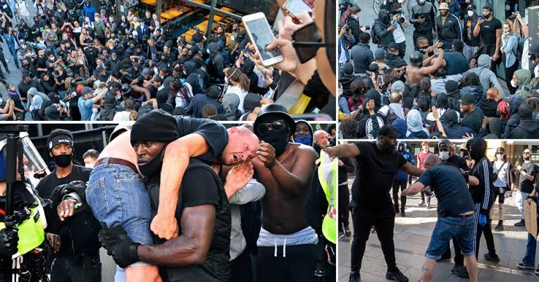 Patrick Hutchchinson, BLM Protester, explains why He saved White Counterprotester at London rally.
