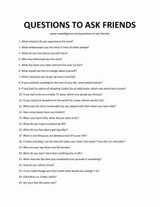 Weird Questions to Ask Your Friends