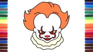 Pennywise drawing easy from It {Character, Video Tutorial} Pennywise Funny Memes