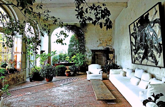 this indoor garden is truly one of the most inspired examples of bringing the outdoors in
