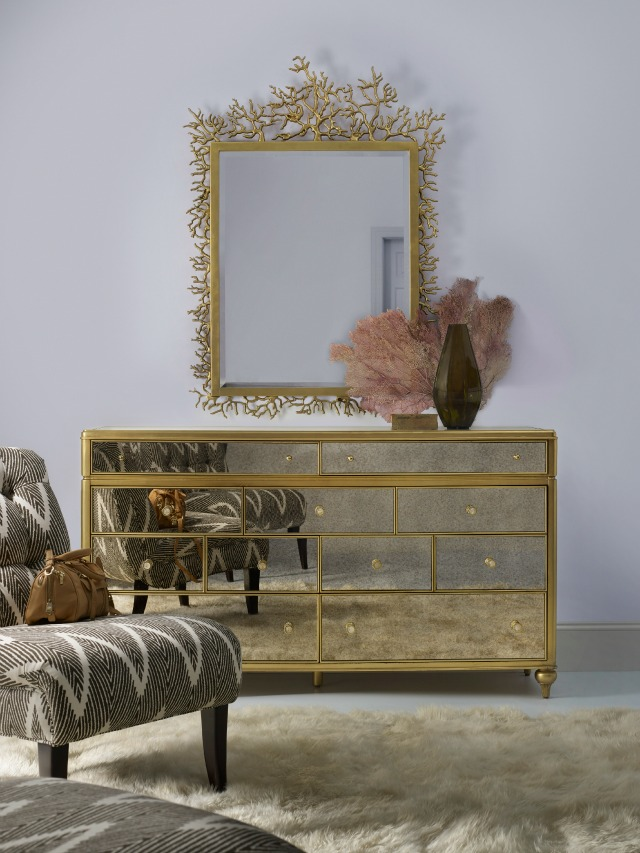cynthia rowley for hooker furniture curious decorative twig mirror and dresser