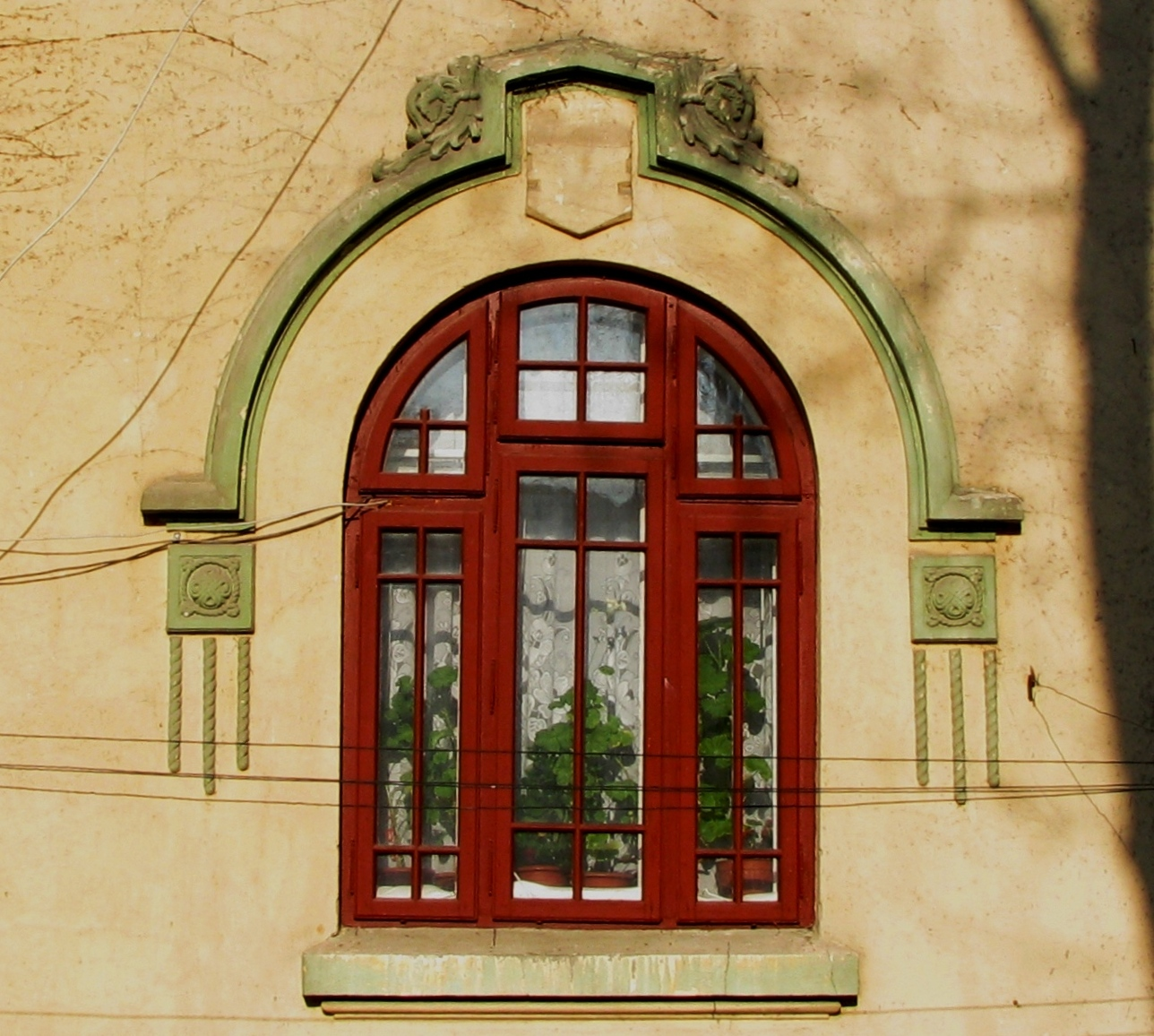 NationalRomantic and NeoRomanian Style House Windows in