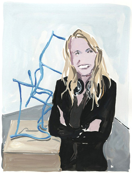 """Ida Ekblad in front of """"Dusty chimes of Chrome"""""""