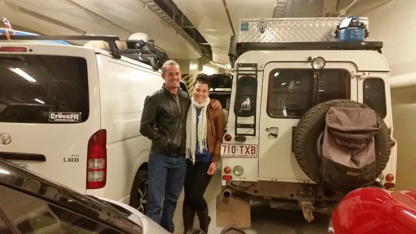 vehicle loaded spirit of tasmania ferry