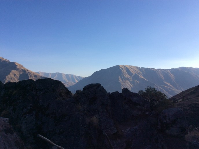 View of the Sacred Valley from fortress in Pisac