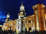 Colonial cathedral in Arequipa, Peru