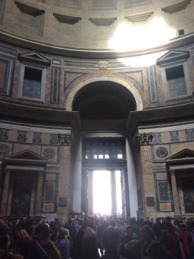 Interior view of the Pantheon, Rome