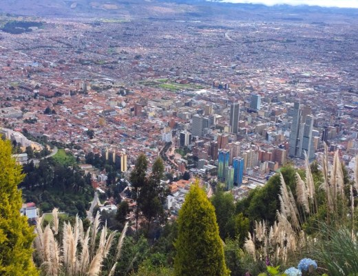 View of urban sprawl from Montserrate in Bogota