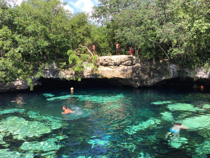 Swimming in Cenote Azul was magical.