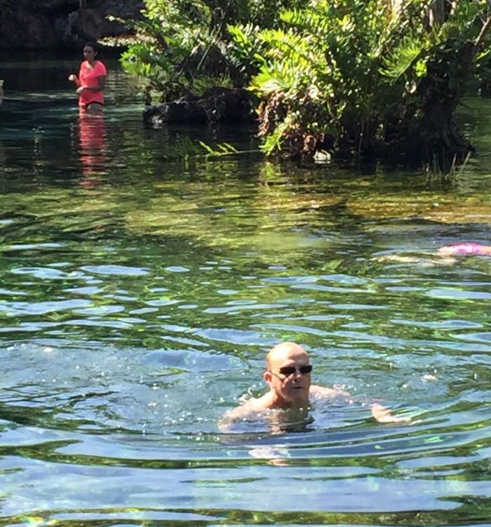 Nick in Cenote Azul