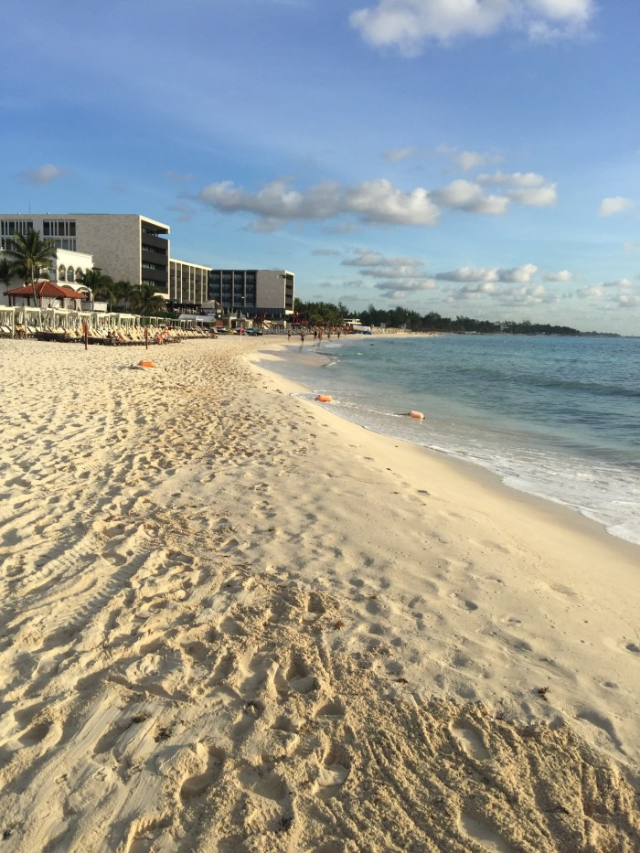 The beach in Playa del Carmen is quiet in the morning.