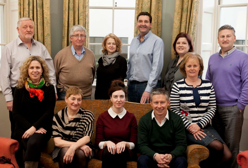 Inaugural Personal Leadership Programme participants in Ireland, January 2014: Standing from left to right: Joe Burke, Paddy Creedon, Deirdre Rigby, Mike Kindle, Liz Maguire and Maurice Whelan (Facilitator, Unleash Potential). Sitting from left to right: Raffaella Bonomonte, Margaret Dromey, Mary McCarthy, Tom Cullen and Christina Hughes.