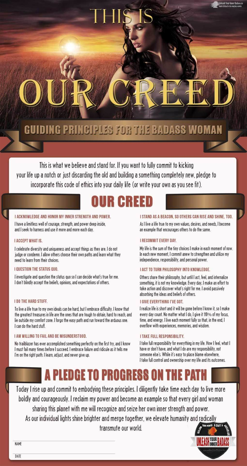 badass woman creed