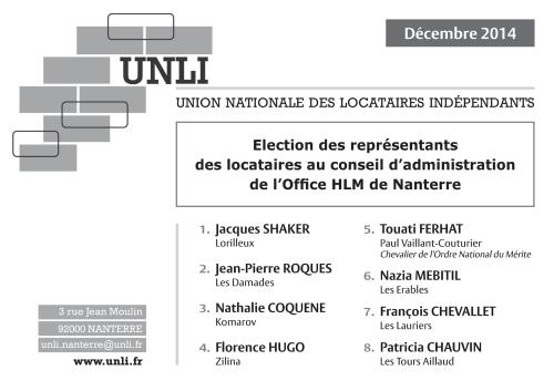 Bulletin de vote 2014