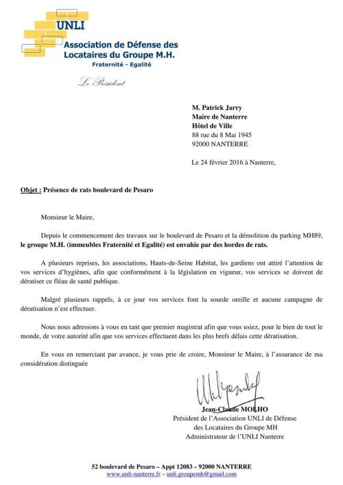 16-25 - Rats bd Pesaro (Lettre)