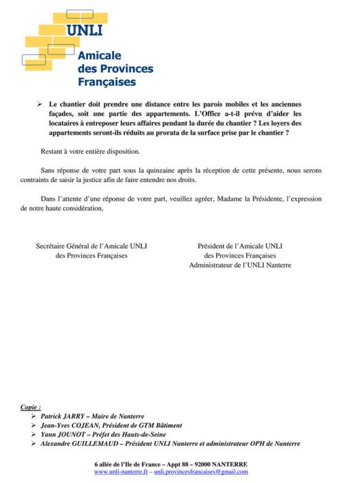 16-18à21 - Chantier Provinces Françaises (Lettre 2)