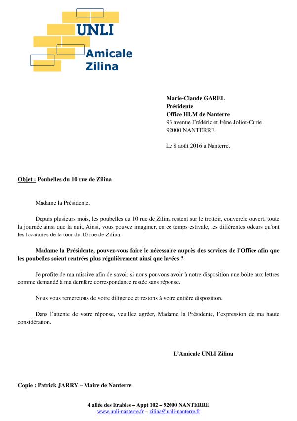 16-107&108 - Ordures 10 Zilina (Lettre)