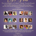 Atlanta Tastemaker Magazine B. Fab Blogger Awards