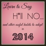 Learn to Say H*ll NO and Other Habits to Adopt in 2014