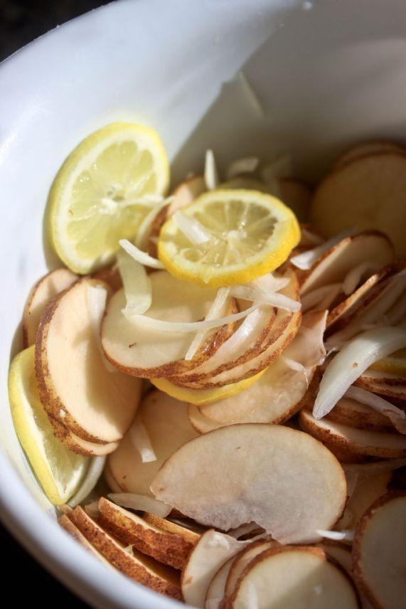 Lemon chicken potato casserole