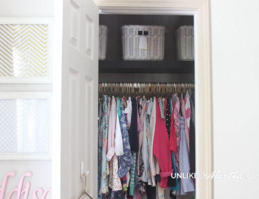 Girls Closet Makeover