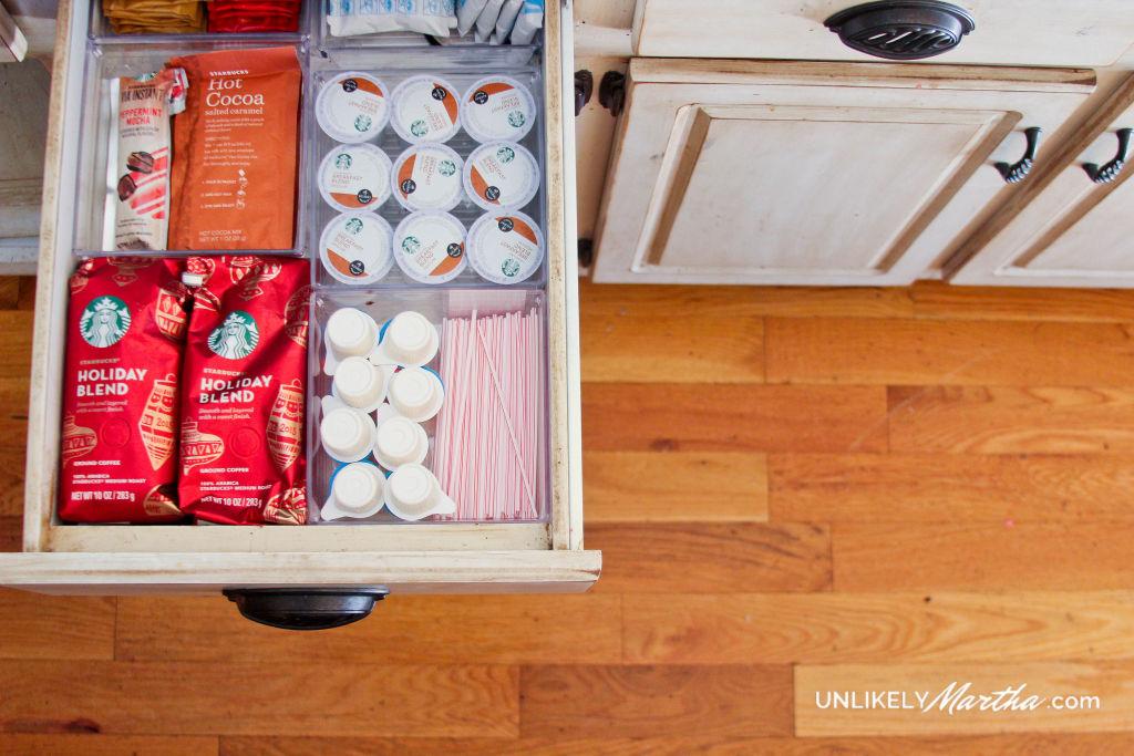 kitchen organization | coffee station