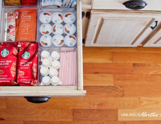 Kitchen Organization   DIY Coffee Station