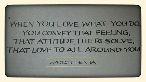 Ayrton Senna Inspirational Quote