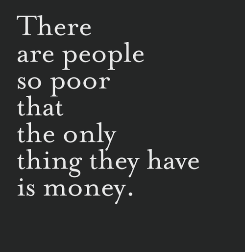 Poor Money Inspirational Quote