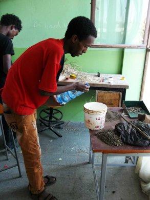 mixing material for bricks