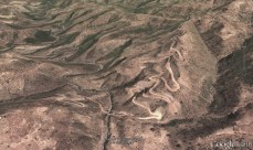 part of the way from debark to shire on google earth