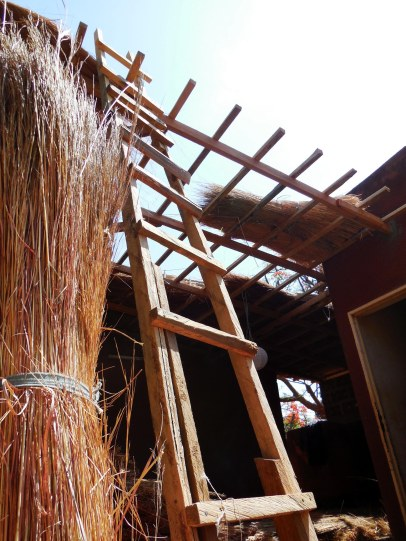 last day of roof weaving