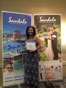 Sandals Certification 2015