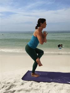 Standing balance hip stretch