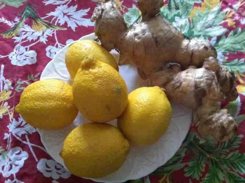 Fresh Lemons and Ginger Root