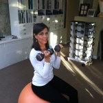 Bicep Curl Seated On Ball