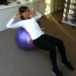 Sit Up On Swiss Ball