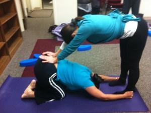 Partner Yoga, Catherine Carrigan With Alba Adrian