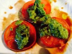 """Tomato, Pesto and Balsamic Vinegar"""