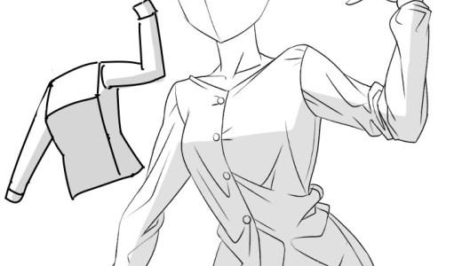 服のシワの影の塗り方【最初から個別に塗らないのがポイント】