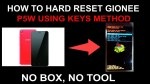 HOW TO HARD RESET GIONEE P5W (PATTERN & PASSWORD REMOVE)USING KEYS METHOD