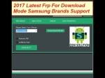 2017 Latest Frp For Download Mode Samsung Brands Support