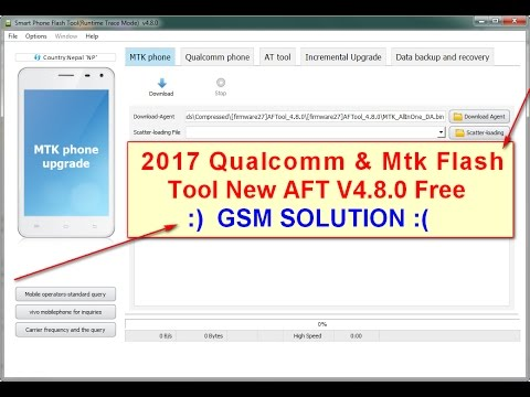 2017 Qualcomm & Mtk Flash Tool New AFT V4.8.0 Free Guide