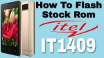 How To Flash Stock Rom iTel IT1409 | Fix Hang On logo